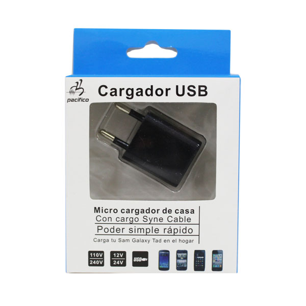 Adaptador de corriente USB Pacifico