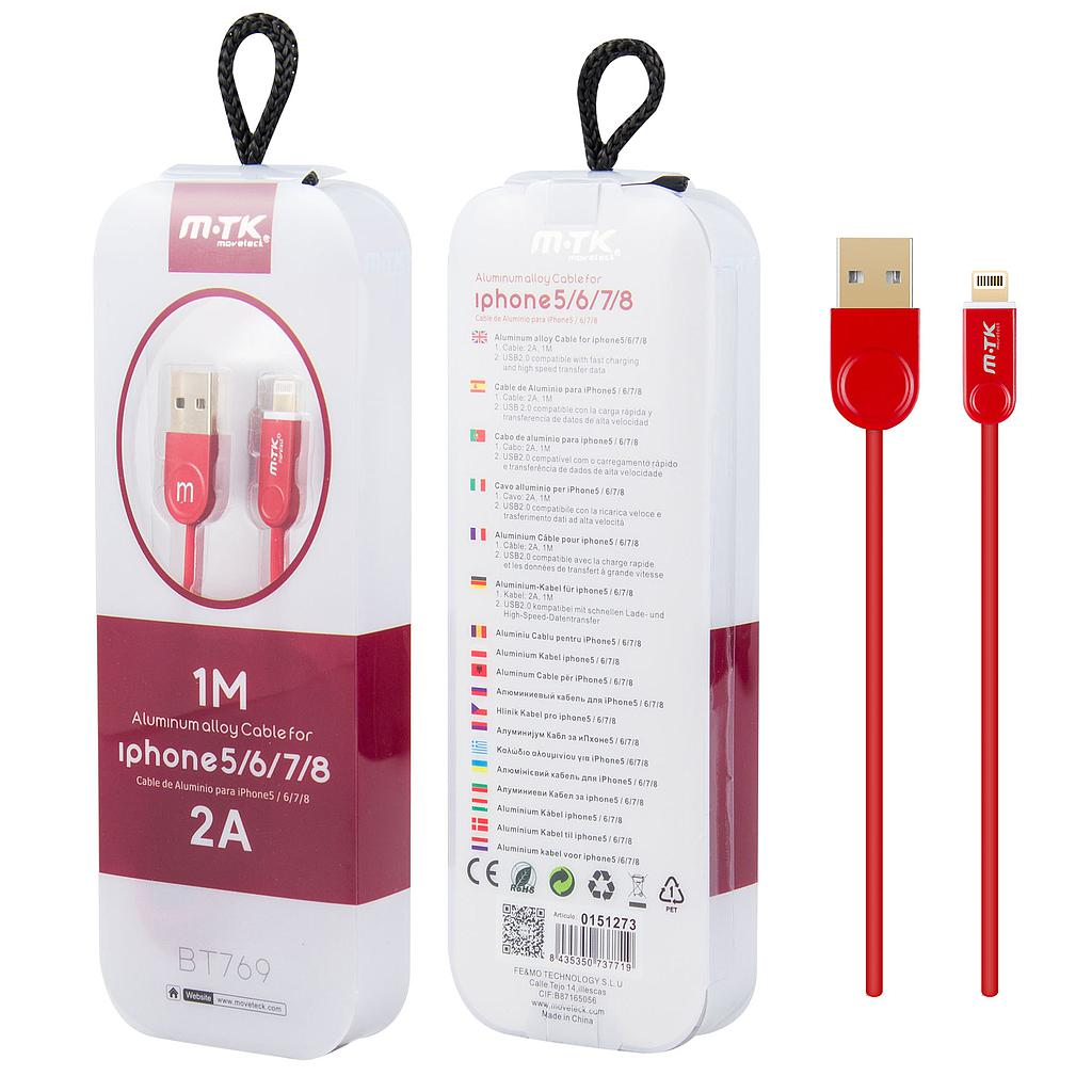 Cable iphone MTK 2A BT769