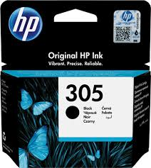 Cartucho original HP 305 negro